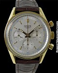 HEUER 1964 CARRERA 18K GOLD CHRONOGRAPH VINTAGE REISSUE SCREW BACK