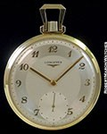 LONGINES 14K POCKET WATCH 1950s