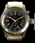 LONGINES SINGLE BUTTON FLYBACK AVIATOR'S CHRONO WITH BLACK MILITARY DIAL AND CENTRAL REGISTER – ISRAELI ISSUE