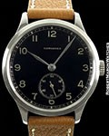 LONGINES VINTAGE 12.68Z 37MM STEEL RARE BLACK GILT DIAL