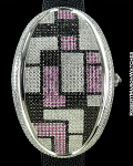 MAVILLA 1277 PINK/BLACK GEOMETRIC OVAL