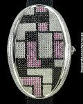 MAVILLA 1277 PINK/BLACK GEOMETRIC OVAL
