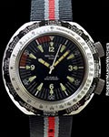 NAUTILUS MINI WORLDTIME VINTAGE STEEL WATCH NEW OLD STOCK