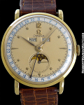 OMEGA COSMIC TRIPLE CALENDAR MOONPHASE 18K GOLD