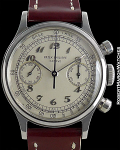 PATEK PHILIPPE REF 1463 CHRONOGRAPH STEEL RARE & MINT WITH BOX/PAPERS CIRCA 1949