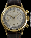 PATEK PHILIPPE 1463J TWO TONE DIAL MINT YELLOW GOLD