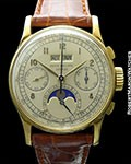 Patek Philippe 1518J 18K Perpetual Chrono-immaculate condition circa 1948
