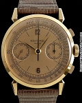 PATEK PHILIPPE 1579 VINTAGE NEW OLD STOCK 18K ROSE GOLD CHRONOGRAPH