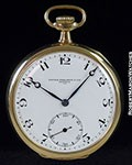 PATEK PHILLIPE POCKET WATCH 18K ENAMEL DIAL