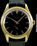 PATEK PHILIPPE CALATRAVA 2526 18K AUTOMATIC SCREW BACK BLACK ENAMEL DIAL