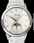 PATEK PHILIPPE REF 3448 PERPETUAL CALENDAR 18K WHITE GOLD EXTREMELY RARE MARK l CIRCA 1971