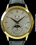 PATEK PHILIPPE TIFFANY 3450 UNPOLISHED 18K AUTOMATIC PERPETUAL CALENDAR W/ LEAP YEAR