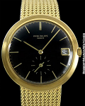 Patek Philippe Ref. 3565-1 18K Calatrava w/ incredible black enamel dial - Automatic Rare!! Circa 1968