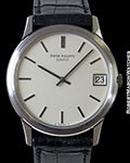 PATEK 3601 CALATRAVA UNPOLISHED NEW OLD STOCK 18K WHITE GOLD AUTOMATIC