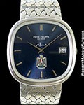PATEK 3604/1 ELLIPSE TV SCREEN AUTOMATIC 18K WHITE GOLD IRAQ MILITARY SADDAM HUSSEIN