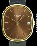 PATEK PHILIPPE ELLIPSE REF 3605 JUMBO 18K GOLD