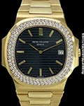 PATEK PHILIPPE JUMBO NAUTILUS 3700/13 18K DIAMOND BEZEL NEW
