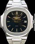PATEK PHILIPPE VINTAGE TROPICAL JUMBO NAUTILUS 3700 BEYER UNPOLISHED STEEL CORK BOX & PAPERS
