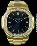 PATEK PHILIPPE 3700/3 NAUTILUS JUMBO 18K YG DIAMOND BEZEL