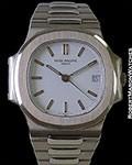 PATEK PHILIPPE NAUTILUS 3800/1G 18K WHITE GOLD WHITE DIAL