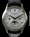 PATEK PHILIPPE 3940G AUTOMATIC PERPETUAL 18K WHITE GOLD BOX PAPERS