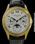 PATEK PHILIPPE 3940 18K AUTOMATIC PERPETUAL ROMAN DIAL COMPLETE