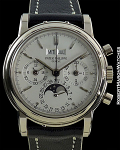 PATEK PHILIPPE 3970G UNPOLISHED 18K WHITE GOLD PERPETUAL CALENDAR CHRONOGRAPH