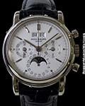 PATEK PHILIPPE 3970G 18K WHITE PERPETUAL CALENDAR CHRONOGRAPH
