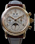 PATEK PHILIPPE 5004R 18K ROSE PERPETUAL CALENDAR SPLIT-SECONDS CHRONOGRAPH BOX & PAPERS