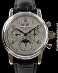 PATEK PHILIPPE 5004P PLATINUM SPLIT SECONDS CHRONOGRAPH PERPETUAL CALENDAR