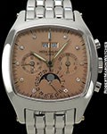 PATEK PHILIPPE 5020/1P PLATINUM PERPETUAL CALENDAR CHRONOGRAPH SALMON DIAL ONE OF A KIND ON BRACELET