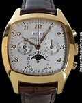 PATEK PHILIPPE 5020 18K ROSE PERPETUAL CALENDAR CHRONOGRAPH BOX BEYER PAPERS