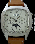PATEK PHILIPPE 5020G 18K WHITE GOLD CUSHION CASE PERPETUAL CALENDAR CHRONOGRAPH
