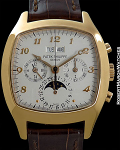 PATEK PHILIPPE REF 5020R PERPETUAL CALENDAR CHRONOGRAPH 18K RG WITH BOX/PAPERS