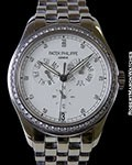 PATEK PHILIPPE 5037/1 WHITE GOLD AUTOMATIC ANNUAL CALENDAR DIAMOND BEZEL