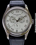 PATEK PHILIPPE 5035G 18K WHITE ANNUAL CALENDAR AUTOMATIC BOX PAPERS