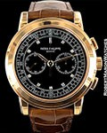 PATEK PHILIPPE 5070 18K ROSE CHRONOGRAPH SPECIAL DIAL BOX PAPERS