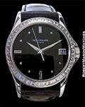 Patek Philippe Ref. 5118P in Platinum with full Baguette diamond dial and bezel - Rare!