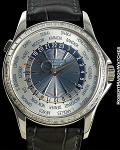 PATEK PHILIPPE PIECE UNIQUE WORLDTIME 5130P PLATINUM BAGUETTE DIAMOND BEZEL