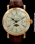 PATEK PHILIPPE 5160R AUTOMATIC OFFICER'S ENGRAVED PERPETUAL CALENDAR NEW