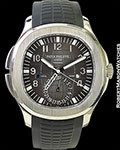 PATEK PHILIPPE TIFFANY AQUANAUT TRAVEL TIME 5164A BOX PAPERS NEW