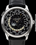 PATEK PHILIPPE 5575G 175th ANNIVERSARY WORLDTIME 18K WHITE GOLD MOONPHASE
