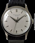 PATEK PHILIPPEVINTAGE OVERSIZED CALATRAVA 570 UNPOLISHED 18K WHITE GOLD CENTER SECONDS BOX & PAPERS