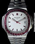 PATEK PHILIPPE 5711P PLATINUM NAUTILUS RUBY BEZEL - 1 OF 5 MADE! RARE!!