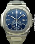 PATEK PHILIPPE 5976/1G 40th ANNIVERSARY NAUTILUS CHRONOGRAPH 44MM 18K WHITE GOLD NEW BOX & PAPERS