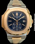 PATEK PHILIPPE NAUTILUS 5980/1AR ROSE GOLD/STEEL AUTOMATIC CHRONOGRAPH NEW