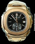 PATEK PHILIPPE 5980/1R 18K ROSE GOLD AUTOMATIC CHRONOGRAPH NEW