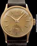 PATEK PHILIPPE REF 96 CALATRAVA ROSE GOLD CASE AND DIAL 18K