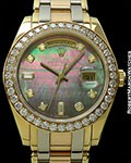 ROLEX MASTERPIECE DAY DATE TRIDOR 18K YELLOW, ROSE, WHITE GOLD REF 18948 39mm