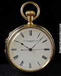 PATEK PHILIPPE POCKET WATCH INDEPENDENT DEAD SECONDS 18K ENAMEL DIAL
